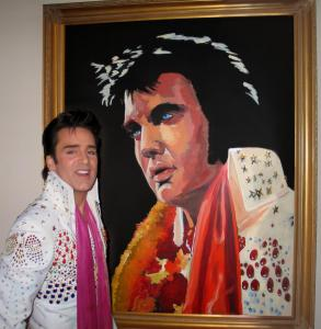 Elvis painting by Steve Connolly
