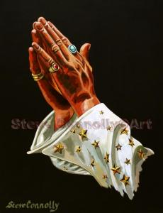 S.Connolly Art Elvis Praying Hands